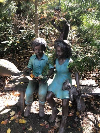 Hills Farm Pond Children Statue